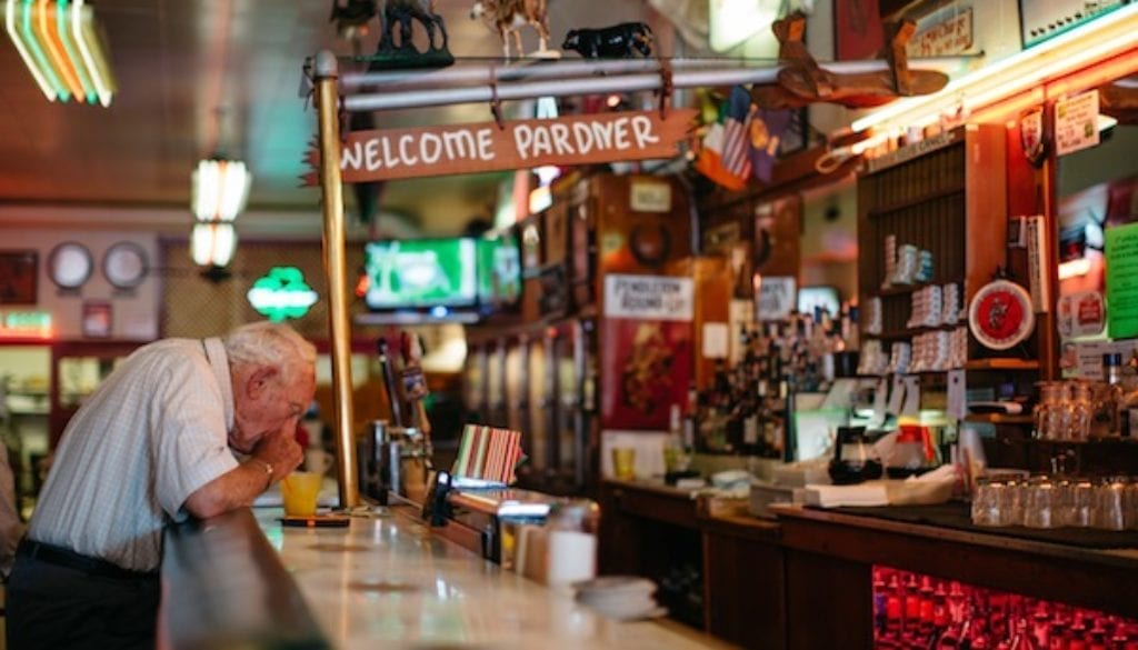 photo:gwen shoemaker Rainbow Cafe. Pendleton's historic restaurant/bar.