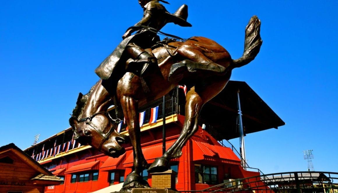 Let 'er Buck Monument - Pendleton, Oregon